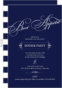 Navy Modern Lettering Corporate Event Invitation