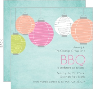 Colorful Lanterns Coporate Event Invitation
