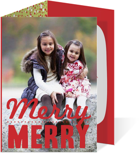 Merry Red Christmas Photo Card