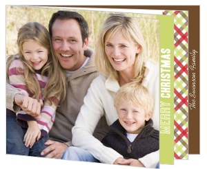 Red Gingham  Christmas Photo Cards