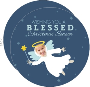 Little Angel Circle Christmas Photo Card