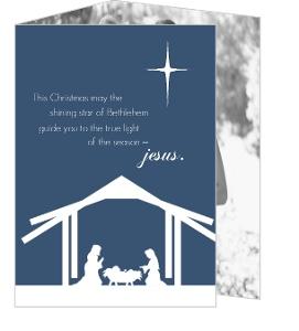 Nativity Silhouette Christmas Photo Card