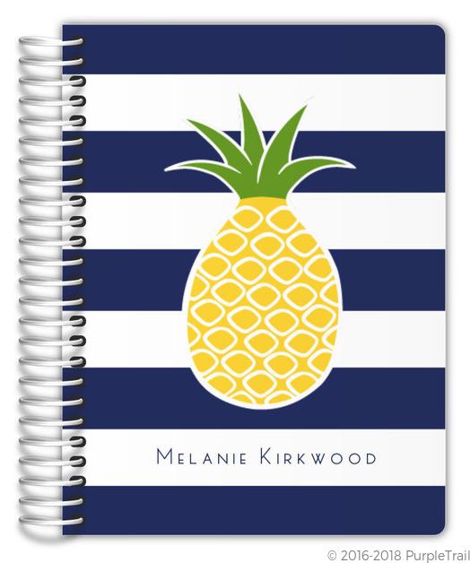 Pineapple Navy Stripe Planner