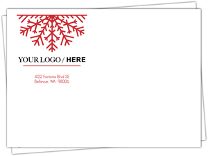 Festive Red Snowflake Holiday Envelope