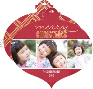 Decorative Ornament Christmas Photo Card