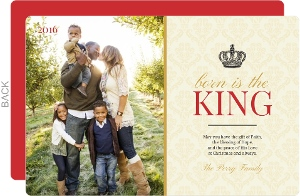 Born is the King Christmas Photo Card