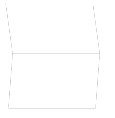 Hexagon Frame Business Thank You Card