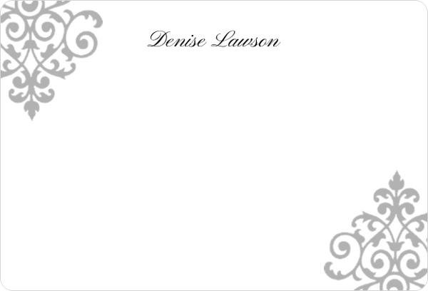 Corner Decor Business Thank You Card