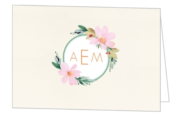 Floral Watercolor Business Thank You Card