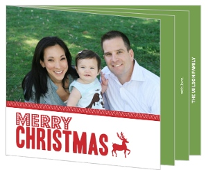 Prancing Reindeer Christmas Photo Card
