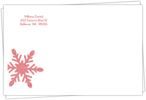 Red Snowflake Envelope