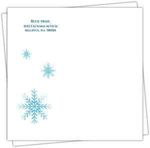 Winter Wishes Business Holiday Envelope