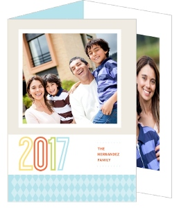 Bright Colorful New Year Card