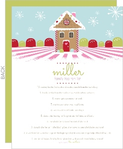 Gingerbread House Christmas Letter