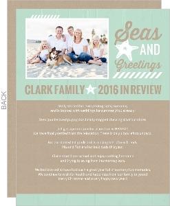 Aqua Beachy Christmas Letter