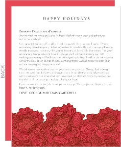 Red Christmas Flowers Christmas Letter