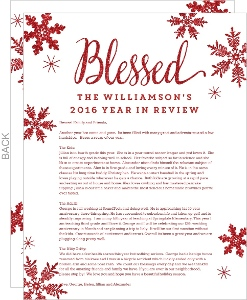 Blessed Red Snowflakes Christmas Letter