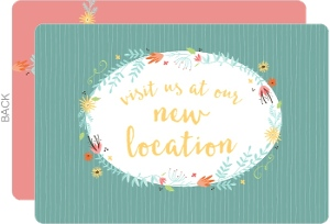 Colorful Floral Business Moving Announcement