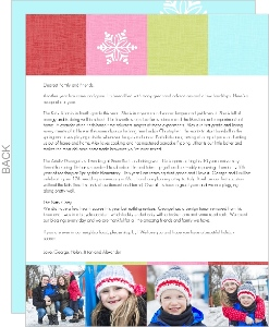 Colorful Holiday Cheer  Christmas Letter