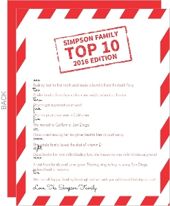 Candy Cane Stripes  Christmas Letter