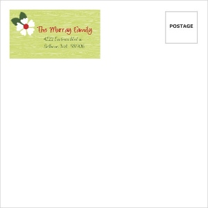 Green And Red Rustic Envelope