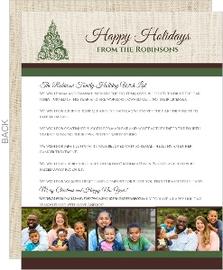 Elegant Green Holiday  Christmas Letter