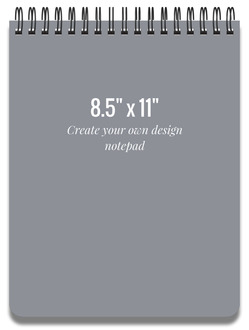 8.5x11 Notepad - Design Your Own