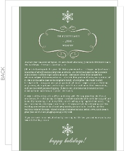 Elegant Scroll  Christmas Letter