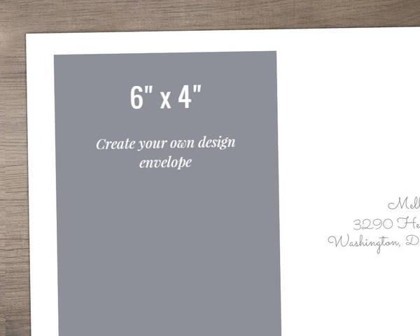 6x4 Envelope - Design Your Own | Custom Envelopes