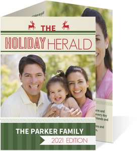 Holiday Herald  Newsletter Photo Card