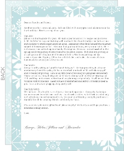 Elegant Winter Wonderland  Christmas Letter