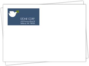 Simple Elegant Dove Holiday Envelope