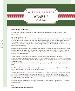 Red and Green  Christmas Letter