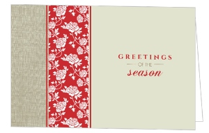 Roses and Linen Christmas Letter