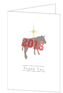 Star of Bethlehem and Donkey Thank You Card