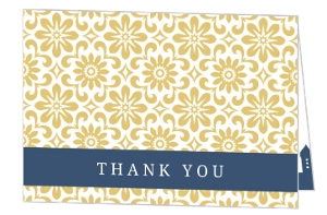 Navy and Gold Elegant Bethlehem Thank You Card