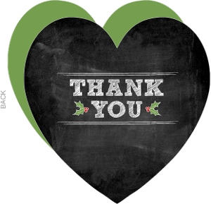 Christmas Blackboard Thank You Card