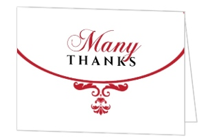 Elegant Filigree Thank You Card