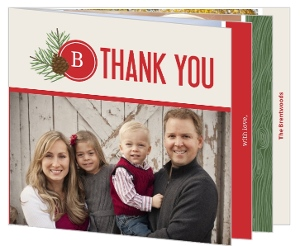 Pine Country Woods Holiday Thank You Card