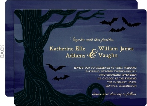 Night Sky Halloween Wedding Invitation