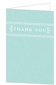 Simple Joyful Blue Photo Holiday Thank You Card