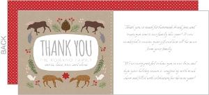 Woodland Wonderland Holiday Thank You Card