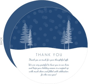 Blue Blessed Thank You Cards
