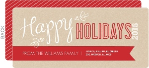 Red and Kraft Modern Holiday Card