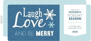 Holiday Sentiments Custom Holiday Card