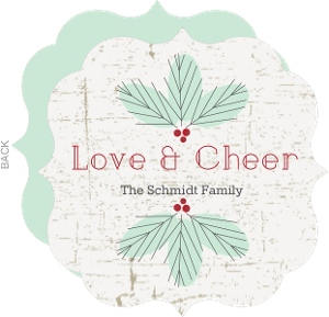 Love and Cheer Pine Holiday Card