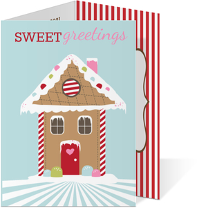 Gingerbread house Holiday Trifold Card