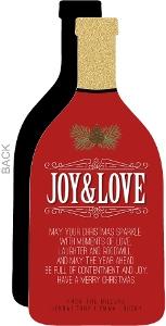 Red Elegant Bottle Season s Greetings Holiday Card