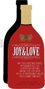 Red Elegant Bottle Seasons Greetings Holiday Card