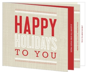 Red and Cream Hot Off the Press Holiday Card